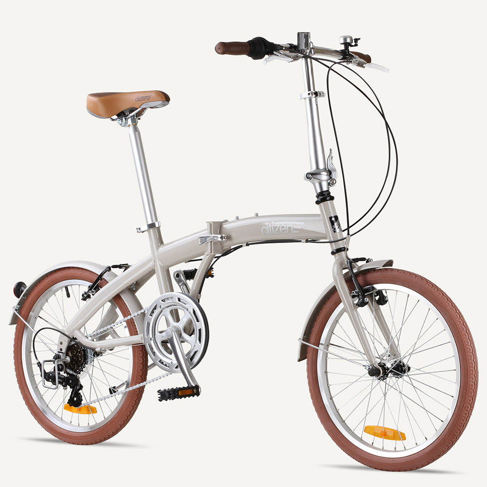 "MIAMI Citizen Bike 20"" 6-speed Folding Bike with Steel Frame"